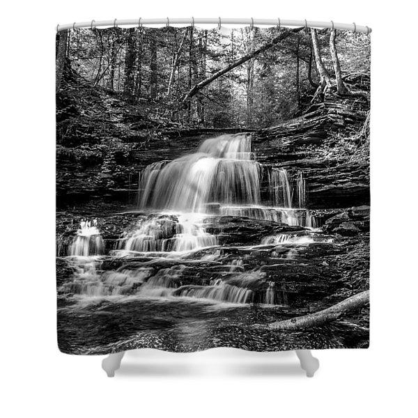 Onondaga Falls - 8923 Shower Curtain