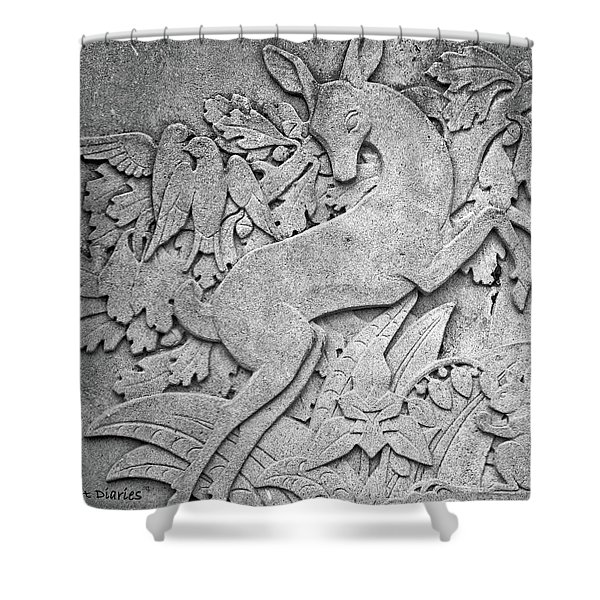Ontario Forest Life In Granite Shower Curtain