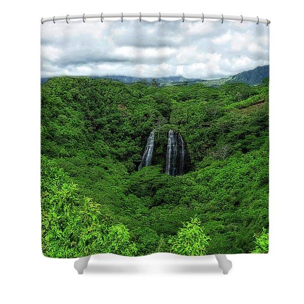 Opaeka Falls Shower Curtain