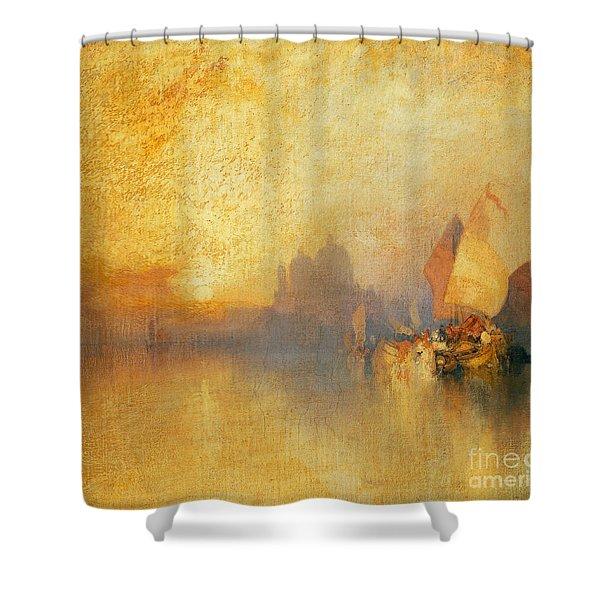 Opalescent Venice Shower Curtain