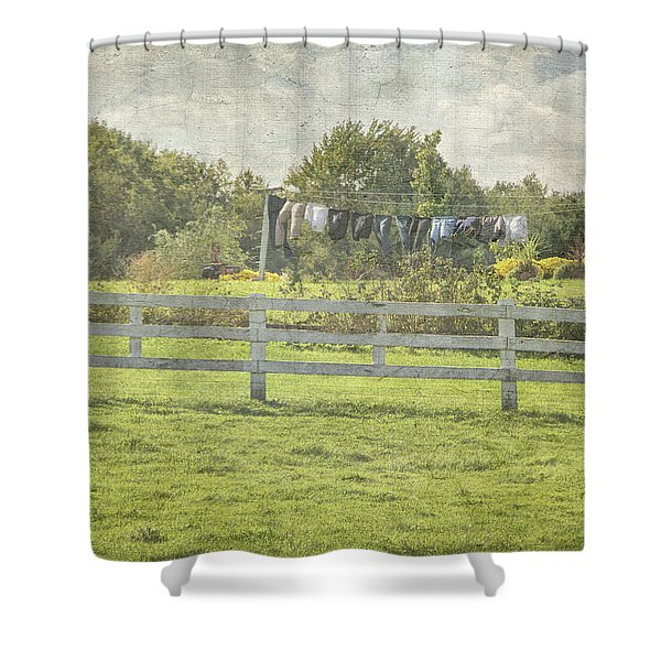 Open Air Clothes Dryer Shower Curtain