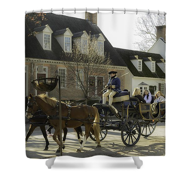 Open Carriage Ride In Colonial Williamsburg Virginia Shower Curtain
