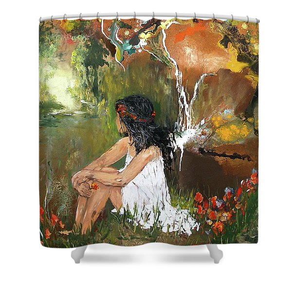 Open-minded Shower Curtain