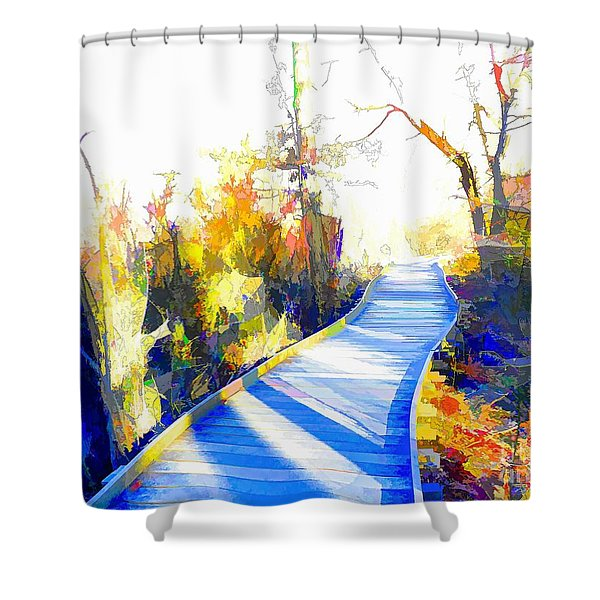 Open Pathway Meditative Space Shower Curtain