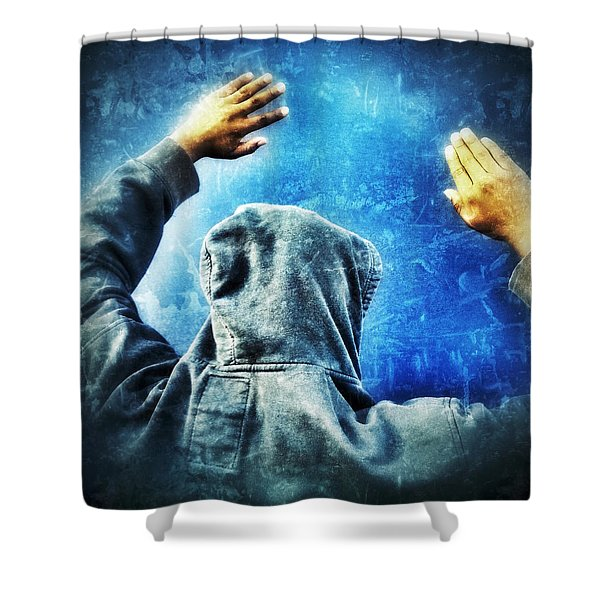 Open The Sky Shower Curtain