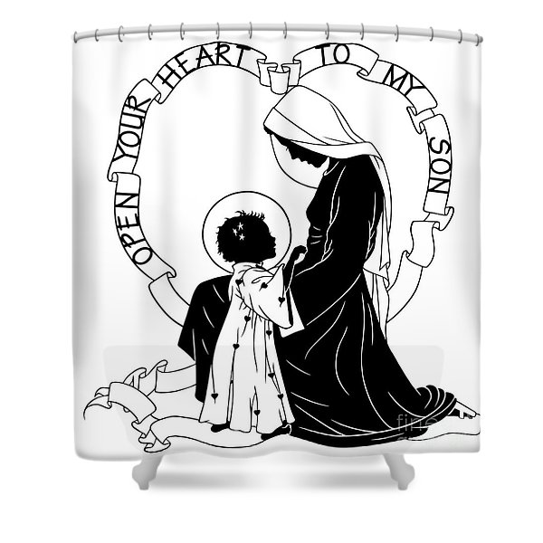Open Your Heart To My Son - Version 1 - Dpoy1h Shower Curtain