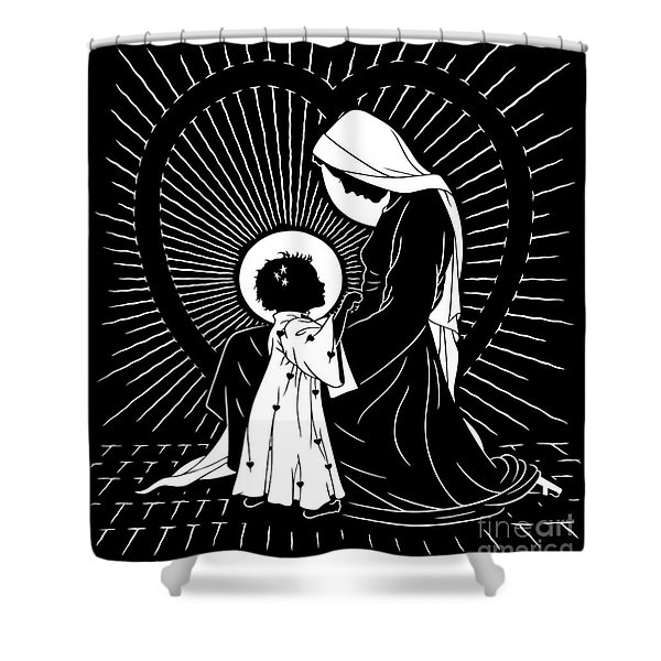 Open Your Heart To My Son - Version 2 - Dpoy2h Shower Curtain