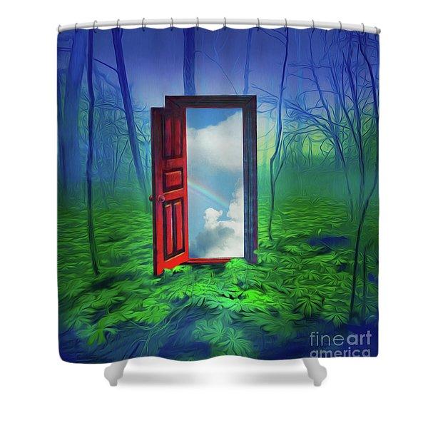 Opening Doors Shower Curtain