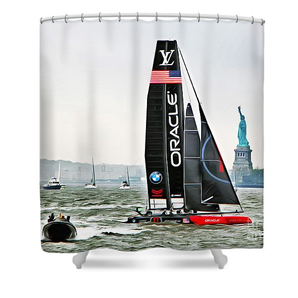 Oracle Team Usa America's Cup New York 2 Shower Curtain