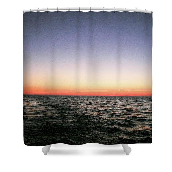Orange And Black Shower Curtain