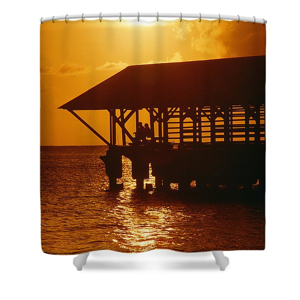 Orange And Red Shower Curtain