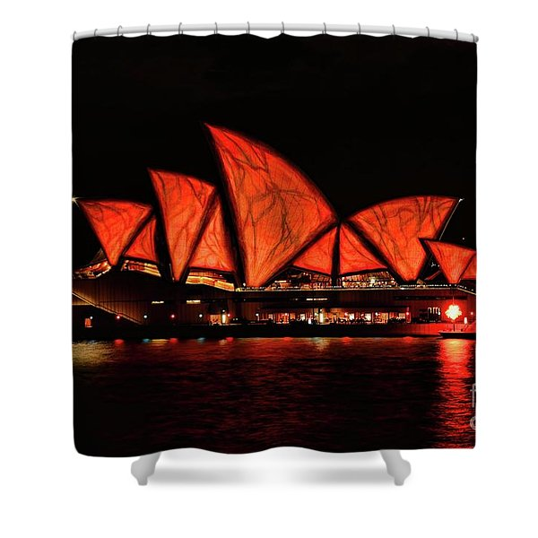 Orange Blast Shower Curtain