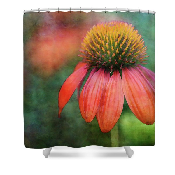 Orange Coneflower 2576 Idp_2 Shower Curtain