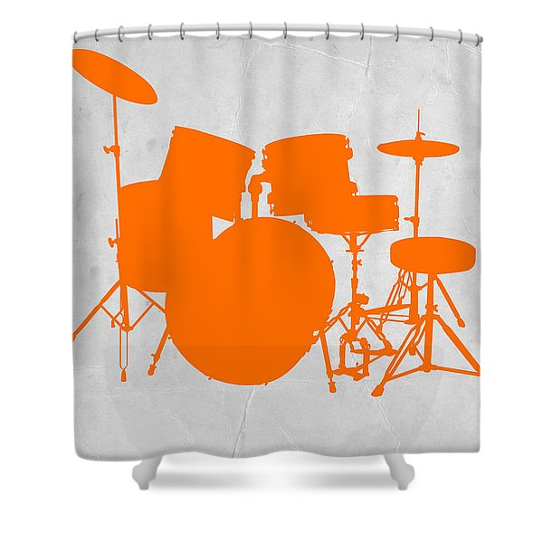 Orange Drum Set Shower Curtain
