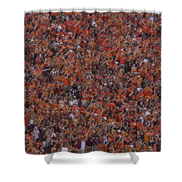 Orange Effect Celebration Game One 2015 Shower Curtain
