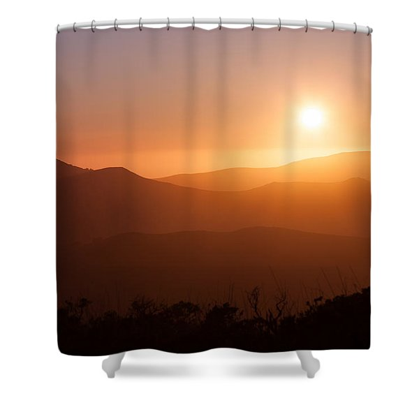 Orange Euphoria Shower Curtain