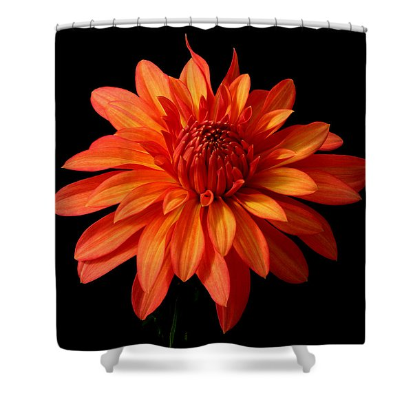 Orange Flame Shower Curtain