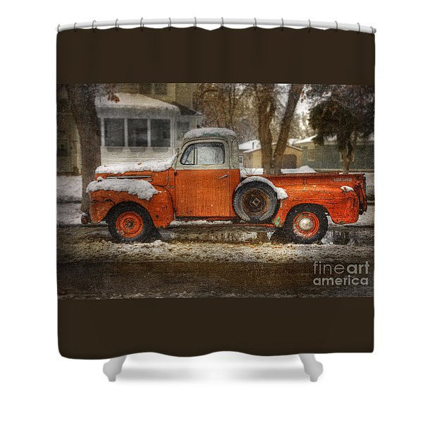Orange Ford 150 Shower Curtain