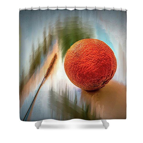 Orange #g4 Shower Curtain