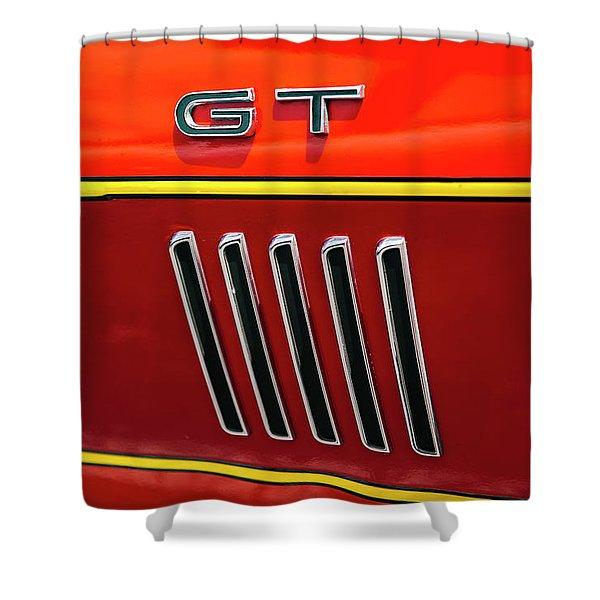 Orange Gt Shower Curtain