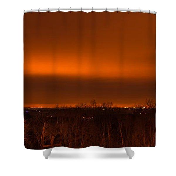 Orange Light Shower Curtain