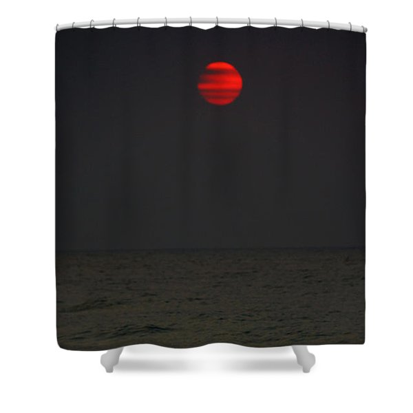 Orange Onyx Sunrise Shower Curtain