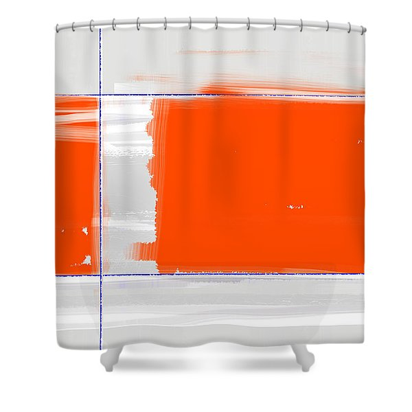 Orange Rectangle Shower Curtain