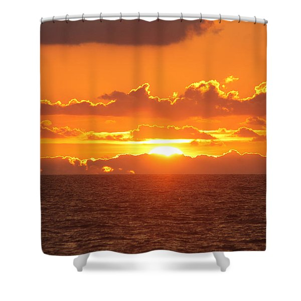 Orange Skies At Dawn Shower Curtain