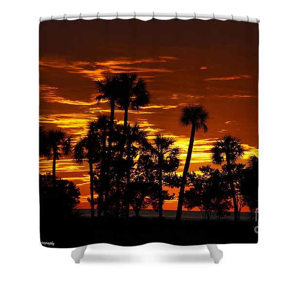 Orange Skies Shower Curtain