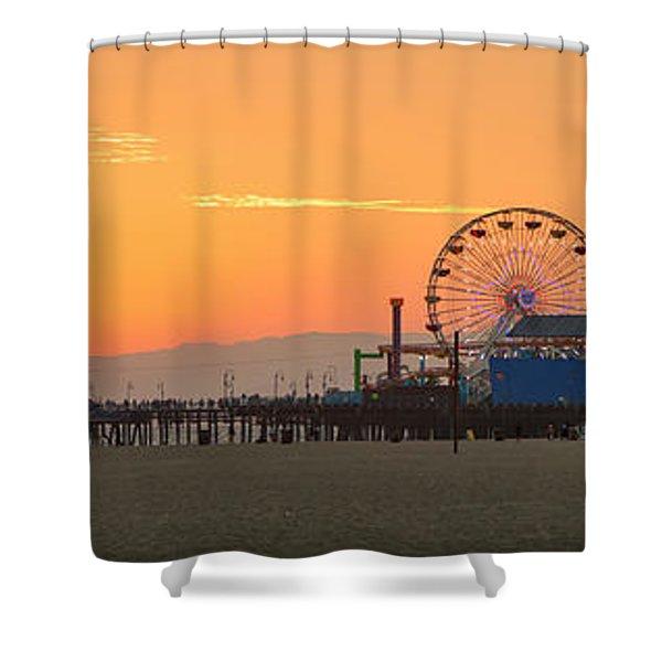 Orange Sunset - Panorama Shower Curtain