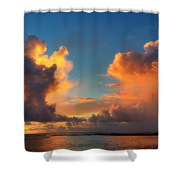Orange To The Left And To The Right Shower Curtain