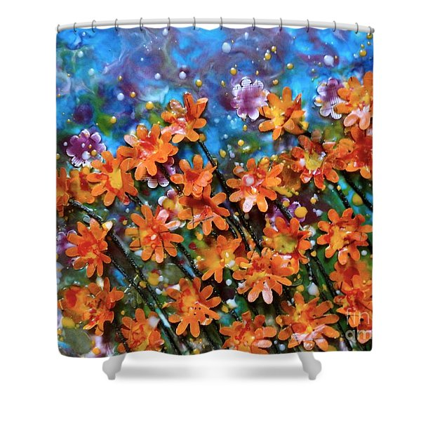 Amazing Orange Shower Curtain
