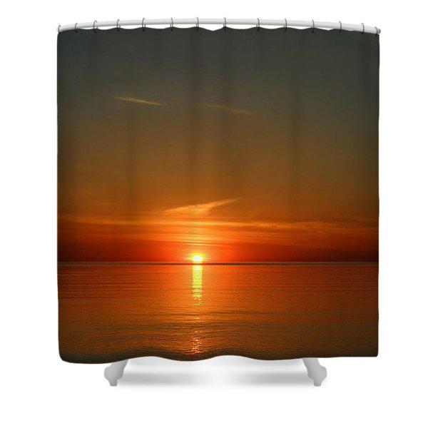 Orangy Skies Shower Curtain
