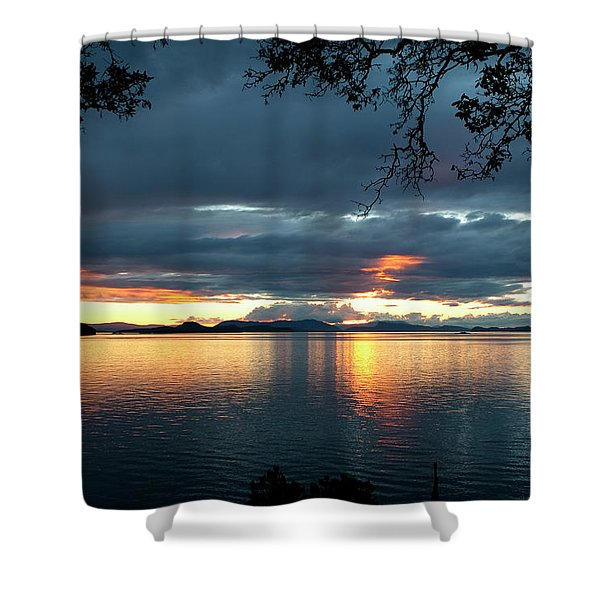 Orcas Island Sunset Shower Curtain