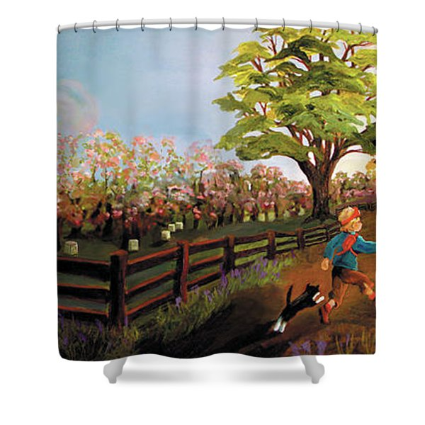 Orchard And Barn Shower Curtain