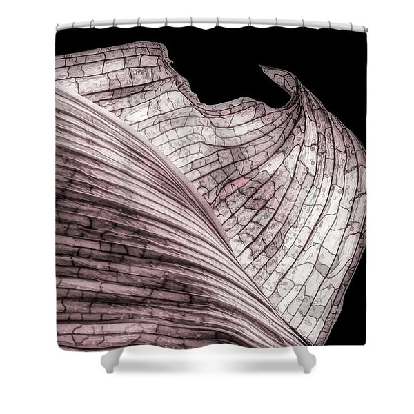 Orchid Leaf Macro Shower Curtain
