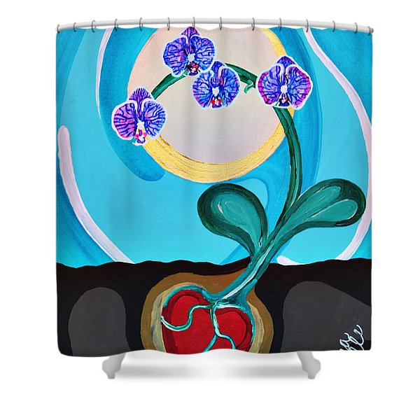 Orchids For My Love Shower Curtain
