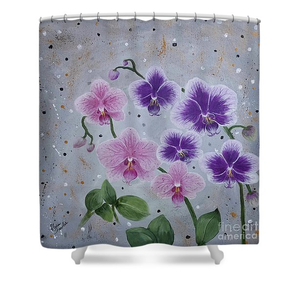 Orchids Galore Shower Curtain
