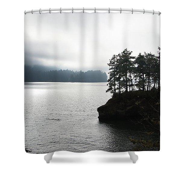 Oregon Coast Fog Shower Curtain