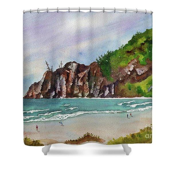 Oregon Coast Shower Curtain by Melanie Pruitt