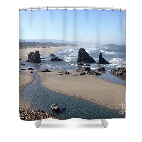 Oregon Coast Sea Stacks Shower Curtain
