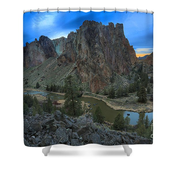 Oregon Desert Sunset Shower Curtain