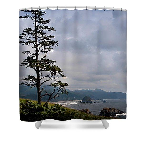 Oregon Ocean Vista Shower Curtain