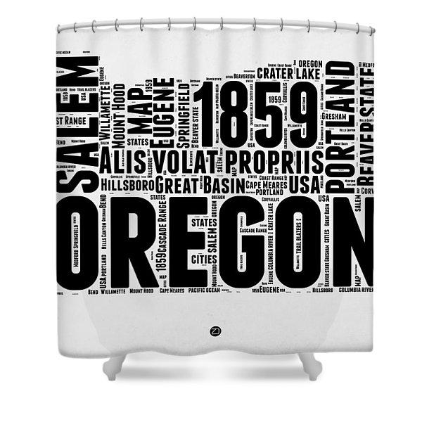 Oregon Word Cloud 1 Shower Curtain