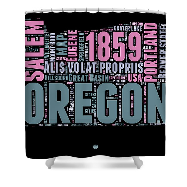 Oregon Word Cloud 2 Shower Curtain