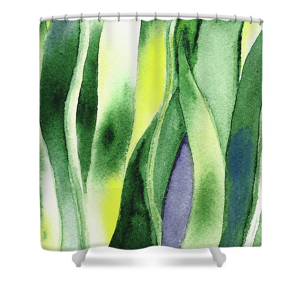 Organic Abstract By Nature I Shower Curtain