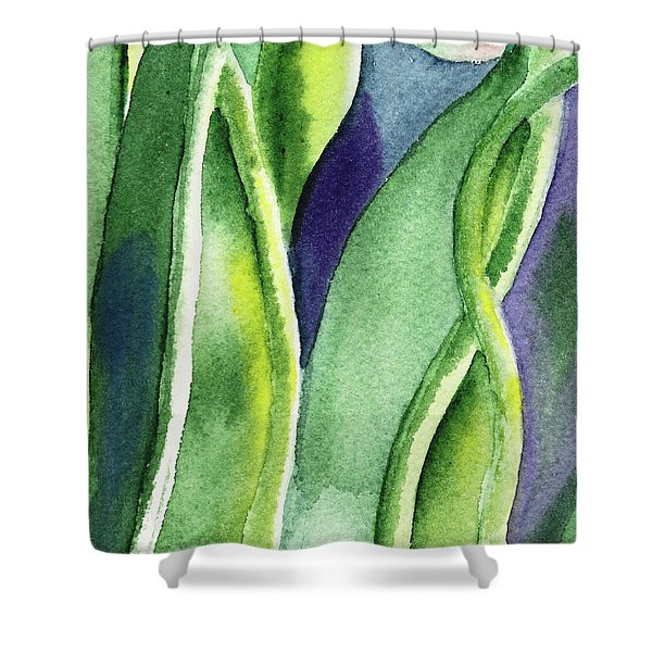 Organic Abstract By Nature II Shower Curtain