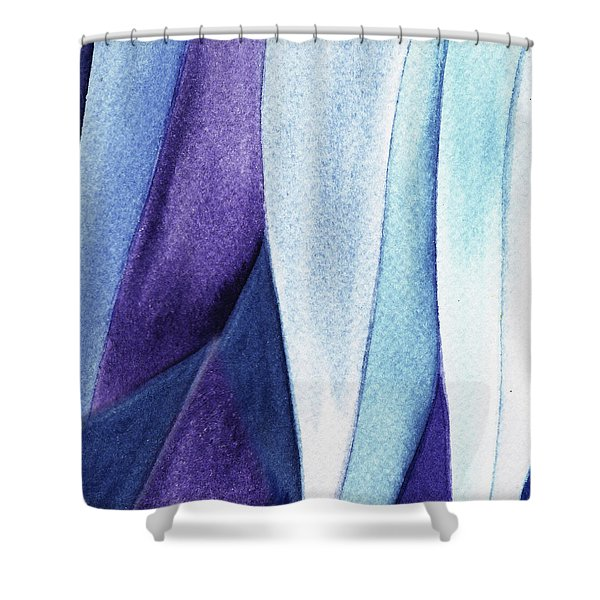 Organic Abstract By Nature Iv Shower Curtain