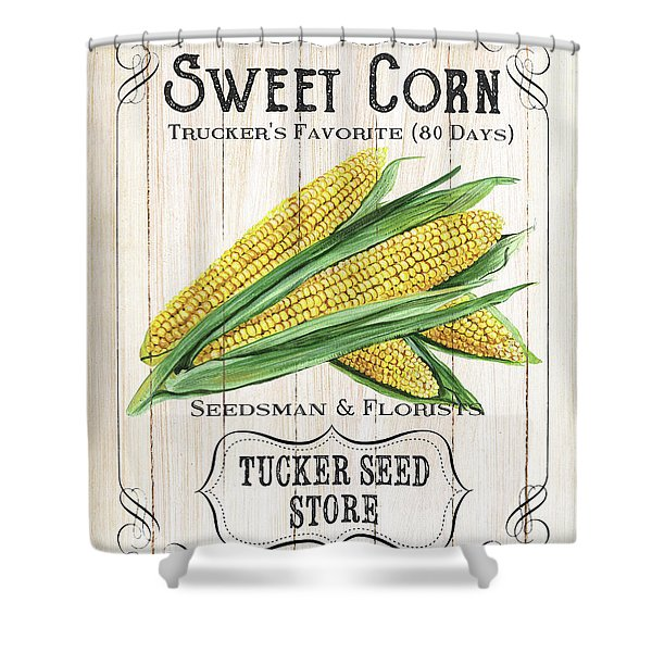 Organic Seed Packet 4 Shower Curtain