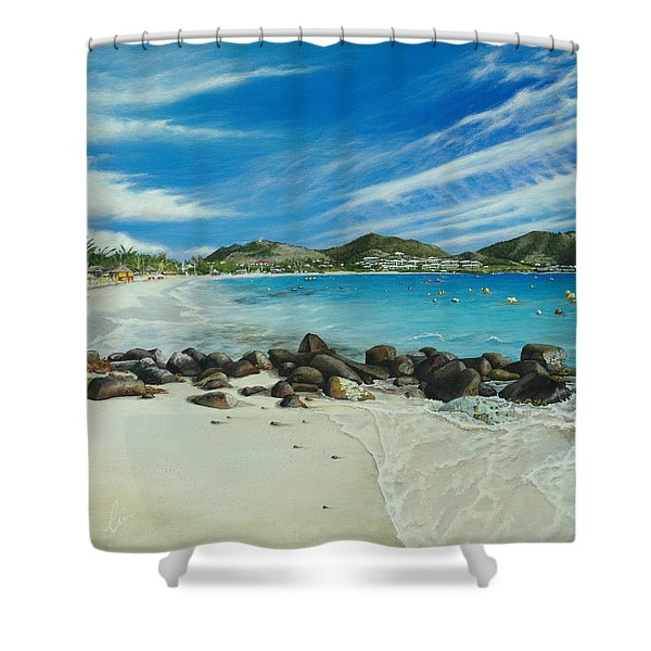 Orient Beach Shower Curtain